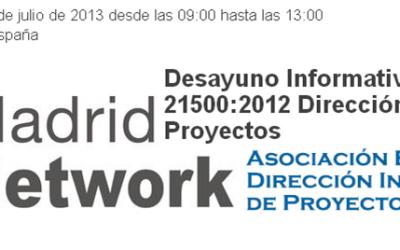 ISO 21500 Desayuno en Madrid Network