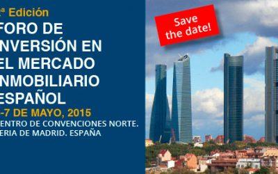 SIMA IMN. 6 y 7 de Mayo 2015: foro de inversores