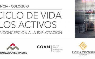 Conferencia-Coloquio: EL CICLO DE VIDA DE LOS ACTIVOS – Madrid, 23 de noviembre de 2017