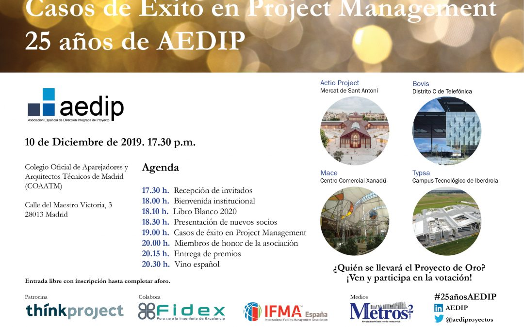 Evento AEDIP | Proyecto de Oro – 25 aniversario